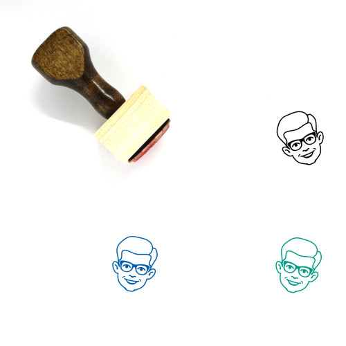 Man Wooden Rubber Stamp No. 483