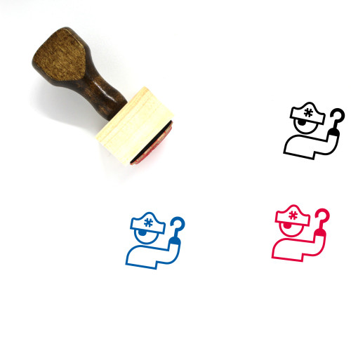 Pirate Wooden Rubber Stamp No. 83