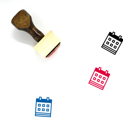 Year Wooden Rubber Stamp No. 9