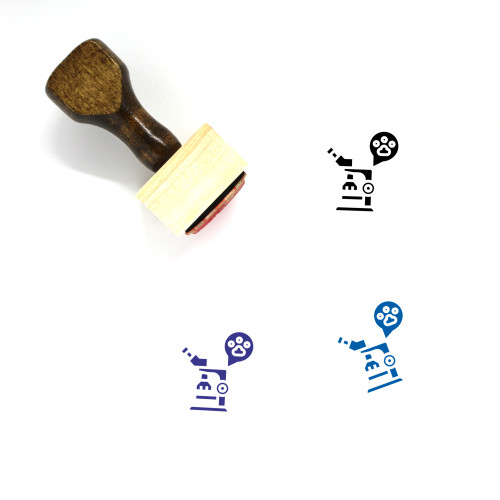 Pet Microscopes Wooden Rubber Stamp No. 1