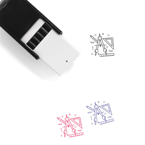 Geometry Self-Inking Rubber Stamp No. 47