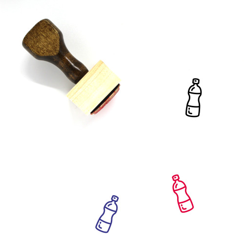 Water Bottle Wooden Rubber Stamp No. 82