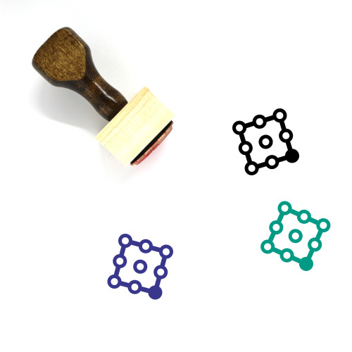 Bottom Right Wooden Rubber Stamp No. 39