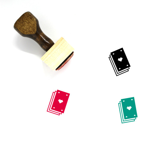 Playing Cards Wooden Rubber Stamp No. 60