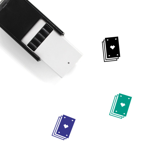 Playing Cards Self-Inking Rubber Stamp No. 60