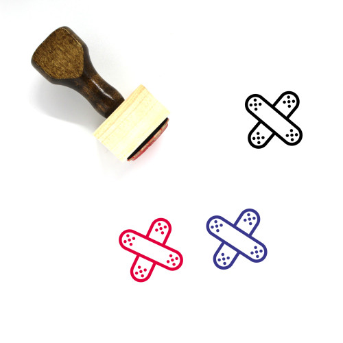 Adhesive Bandage Wooden Rubber Stamp No. 2