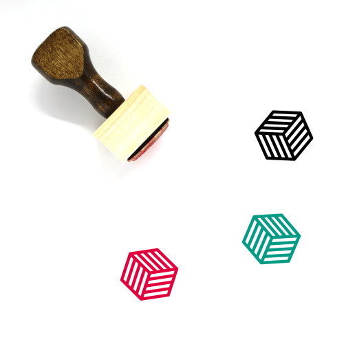Crate Wooden Rubber Stamp No. 38