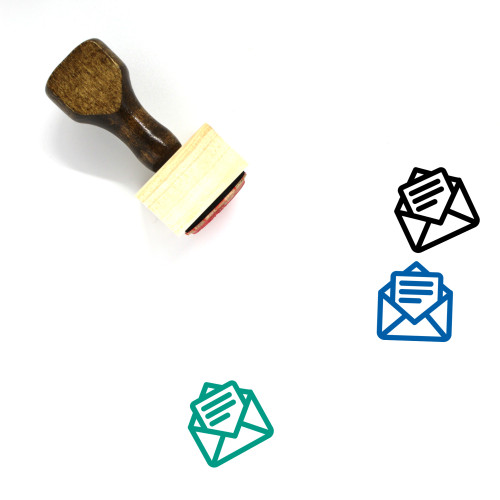 Compose Email Wooden Rubber Stamp No. 1