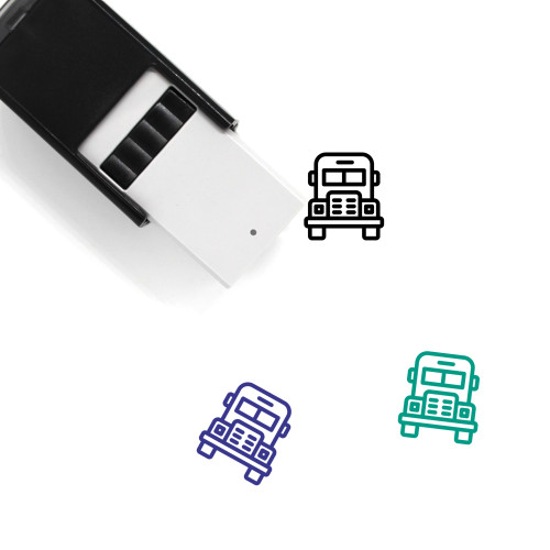 School Bus Self-Inking Rubber Stamp No. 45