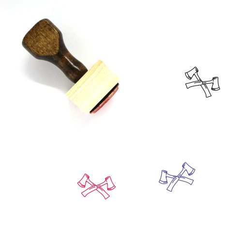 Axes Wooden Rubber Stamp No. 35