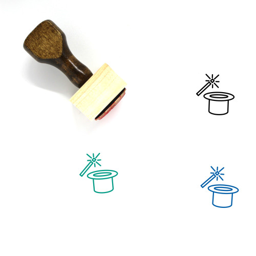 Magic Wooden Rubber Stamp No. 12
