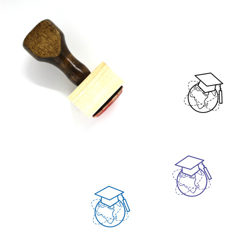 Online Education Wooden Rubber Stamp No. 11