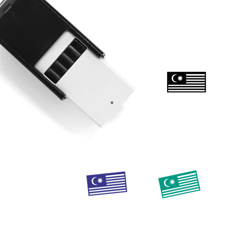 Malaysian Flag Self-Inking Rubber Stamp No. 3