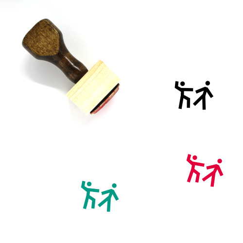 Fight Wooden Rubber Stamp No. 74