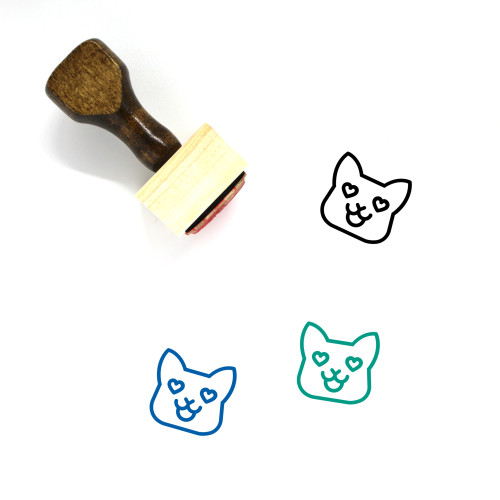 In Love Wooden Rubber Stamp No. 76