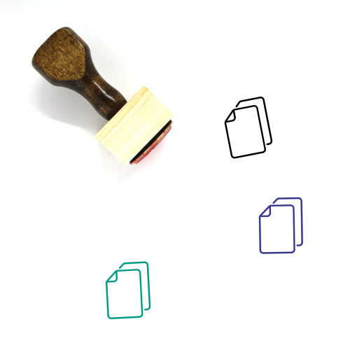 Duplicate File Wooden Rubber Stamp No. 3