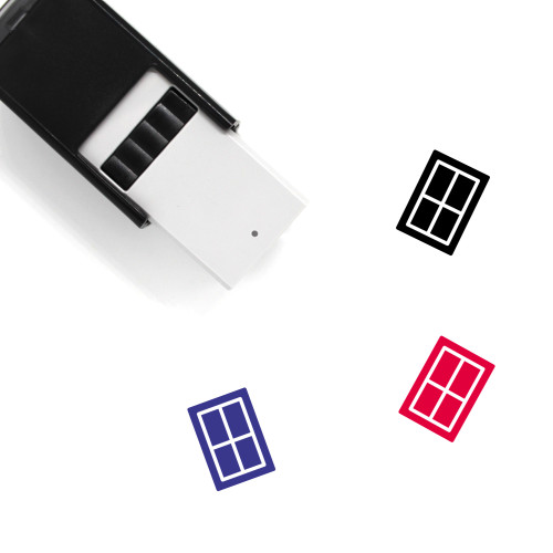 Window Self-Inking Rubber Stamp No. 145