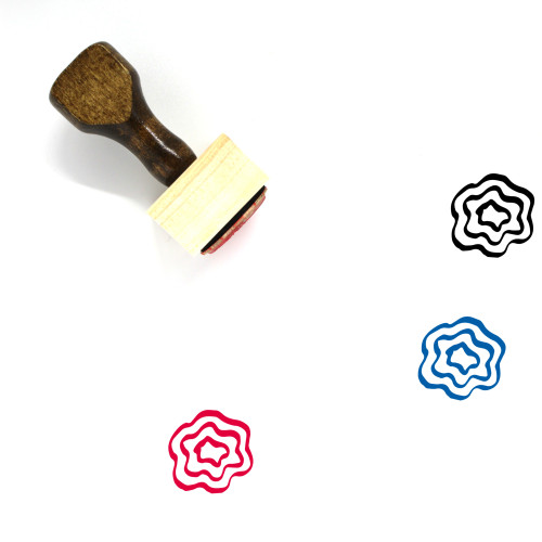 Doodle Wooden Rubber Stamp No. 38