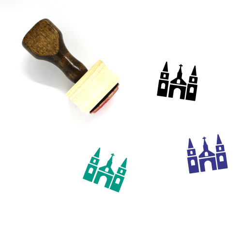 Church Wooden Rubber Stamp No. 221