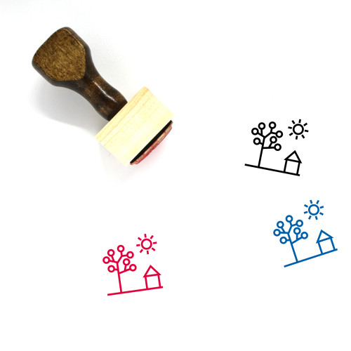 Spring Wooden Rubber Stamp No. 76