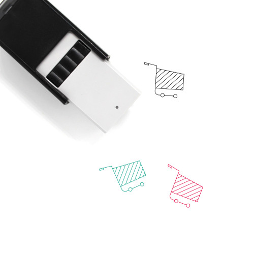 Shopping Cart Self-Inking Rubber Stamp No. 330