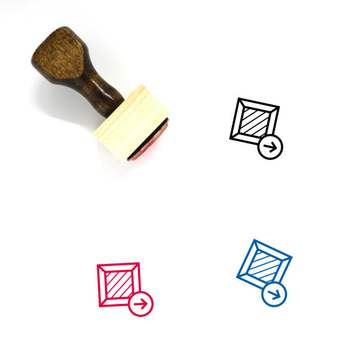 Delivery Service Wooden Rubber Stamp No. 25