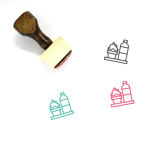 Canteen Wooden Rubber Stamp No. 45