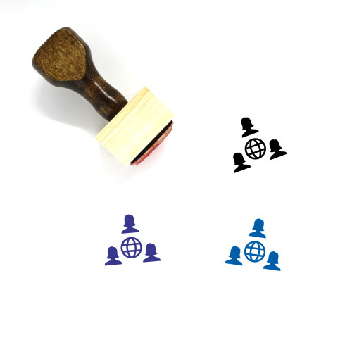 Social Network Wooden Rubber Stamp No. 11