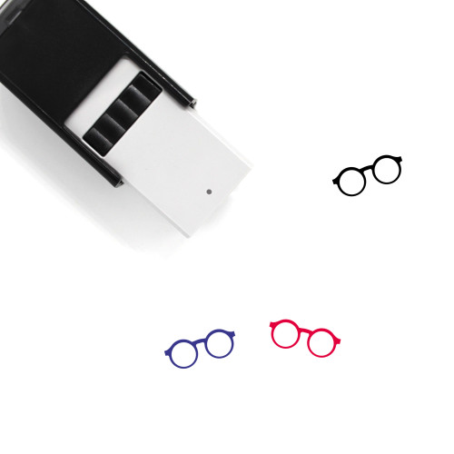 Glasses Self-Inking Rubber Stamp No. 295