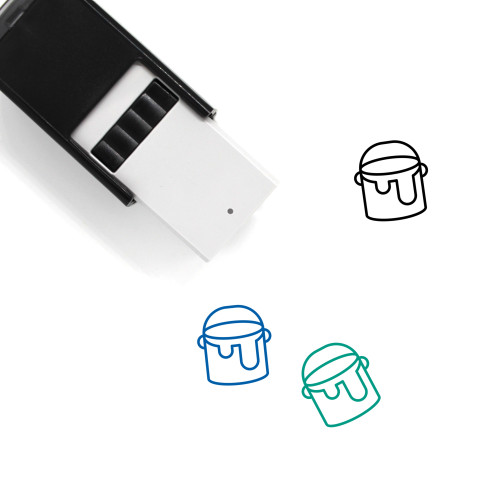 Paint Bucket Self-Inking Rubber Stamp No. 44