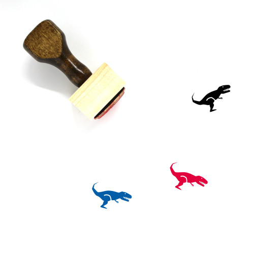 T Rex Wooden Rubber Stamp No. 3