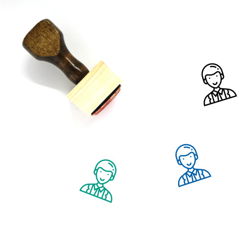 Officer Wooden Rubber Stamp No. 47