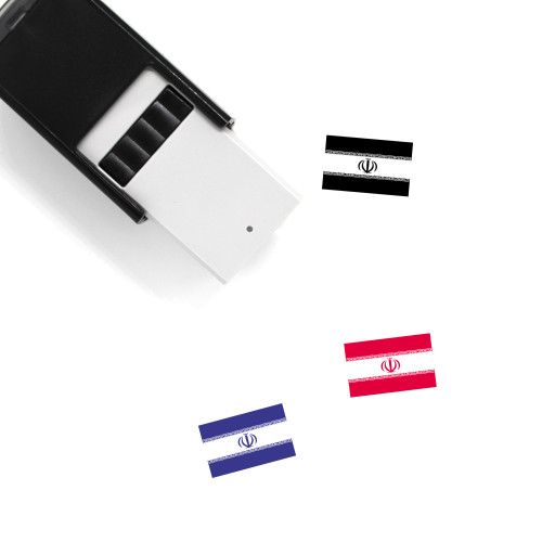 Iran Flag Self-Inking Rubber Stamp No. 4