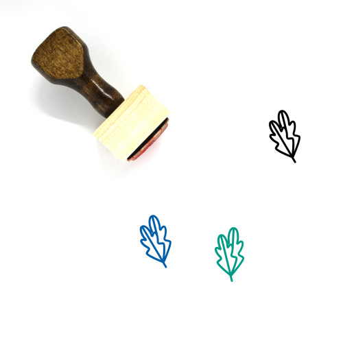 Leaves Wooden Rubber Stamp No. 58