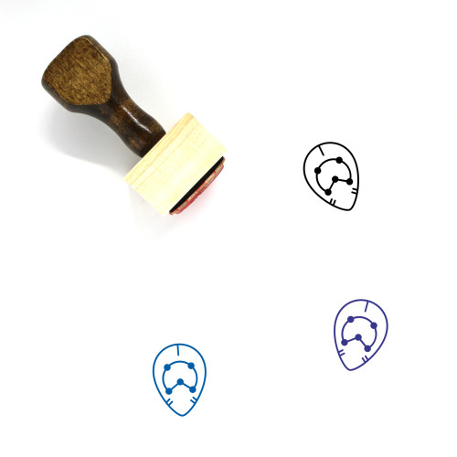 Five Wooden Rubber Stamp No. 45
