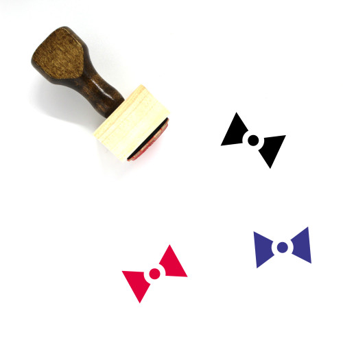Bow Wooden Rubber Stamp No. 129