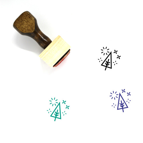 Xmas Tree Wooden Rubber Stamp No. 2