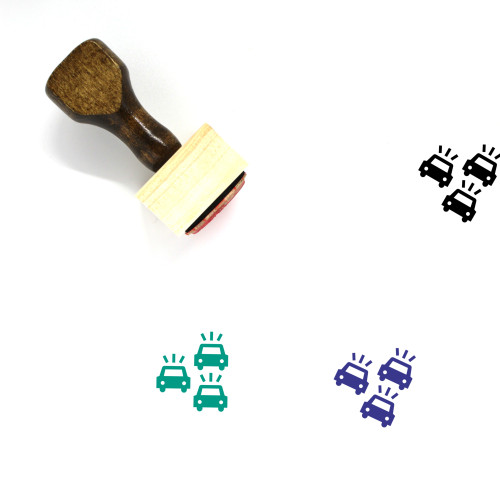 Traffic Jam Wooden Rubber Stamp No. 17