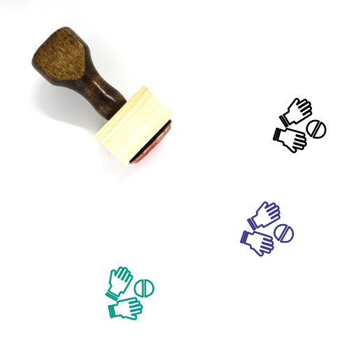 Catch Wooden Rubber Stamp No. 20