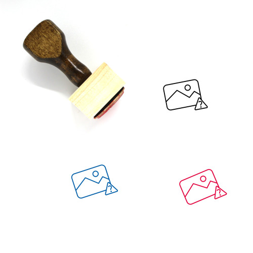 Unknown Picture Wooden Rubber Stamp No. 5