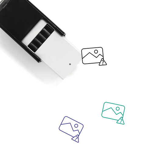 Unknown Picture Self-Inking Rubber Stamp No. 5