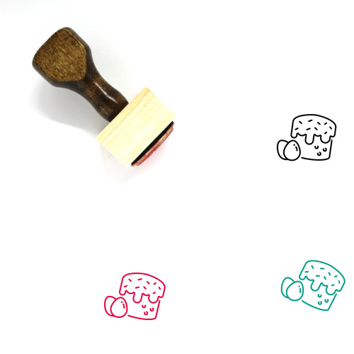 Easter Cake Wooden Rubber Stamp No. 35