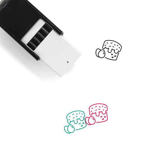 Easter Cake Self-Inking Rubber Stamp No. 35