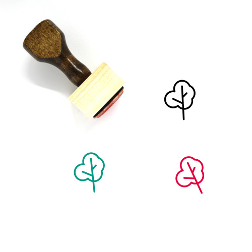 Tree Wooden Rubber Stamp No. 39