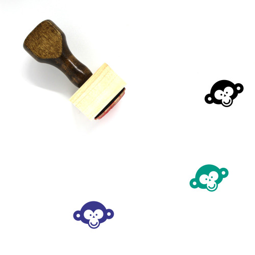 Monkey Face Wooden Rubber Stamp No. 15