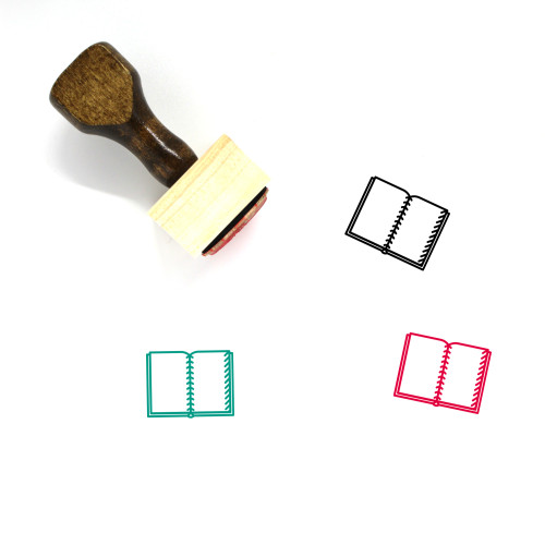 Notebook Wooden Rubber Stamp No. 106