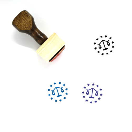EU Law Wooden Rubber Stamp No. 2