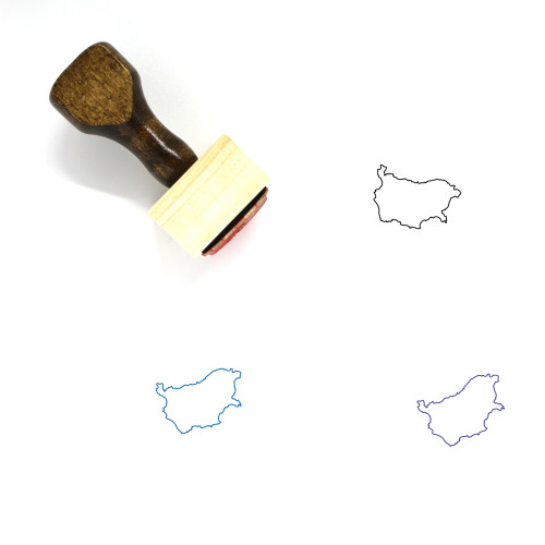 Bulgaria Wooden Rubber Stamp No. 41