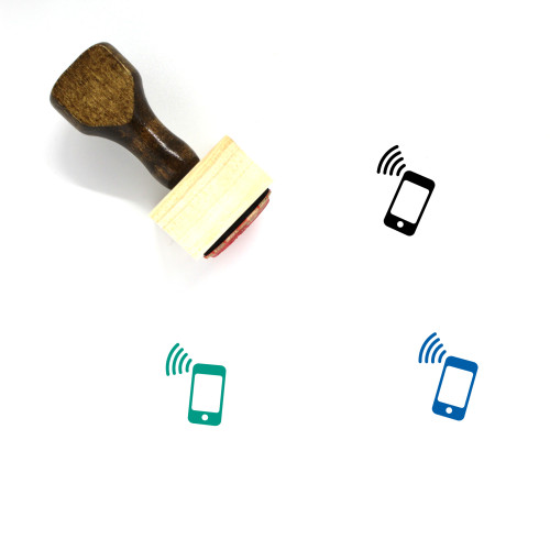 Smartphone Transmission Wooden Rubber Stamp No. 1