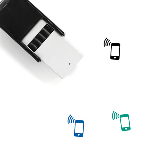 Smartphone Transmission Self-Inking Rubber Stamp No. 1